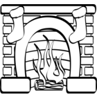 Fireplace Fire Clipart.