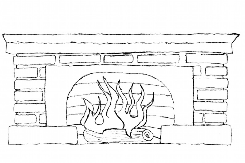 Fireplace Clipart Black And White Panda Free Fireplace%20clipart.