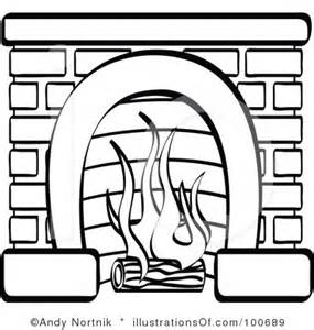 Fireplace Clipart Black And White.