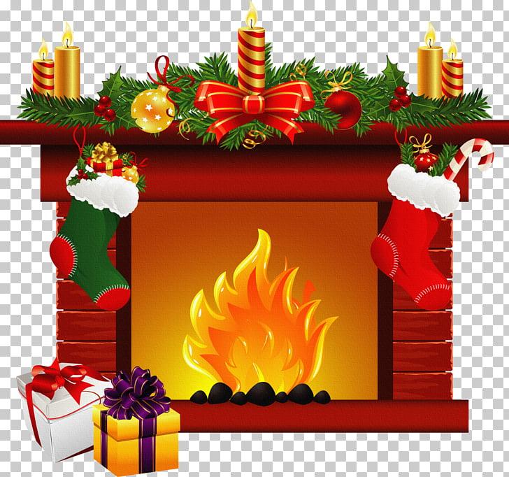Santa Claus Christmas Fireplace mantel , Winter Fireplace s.