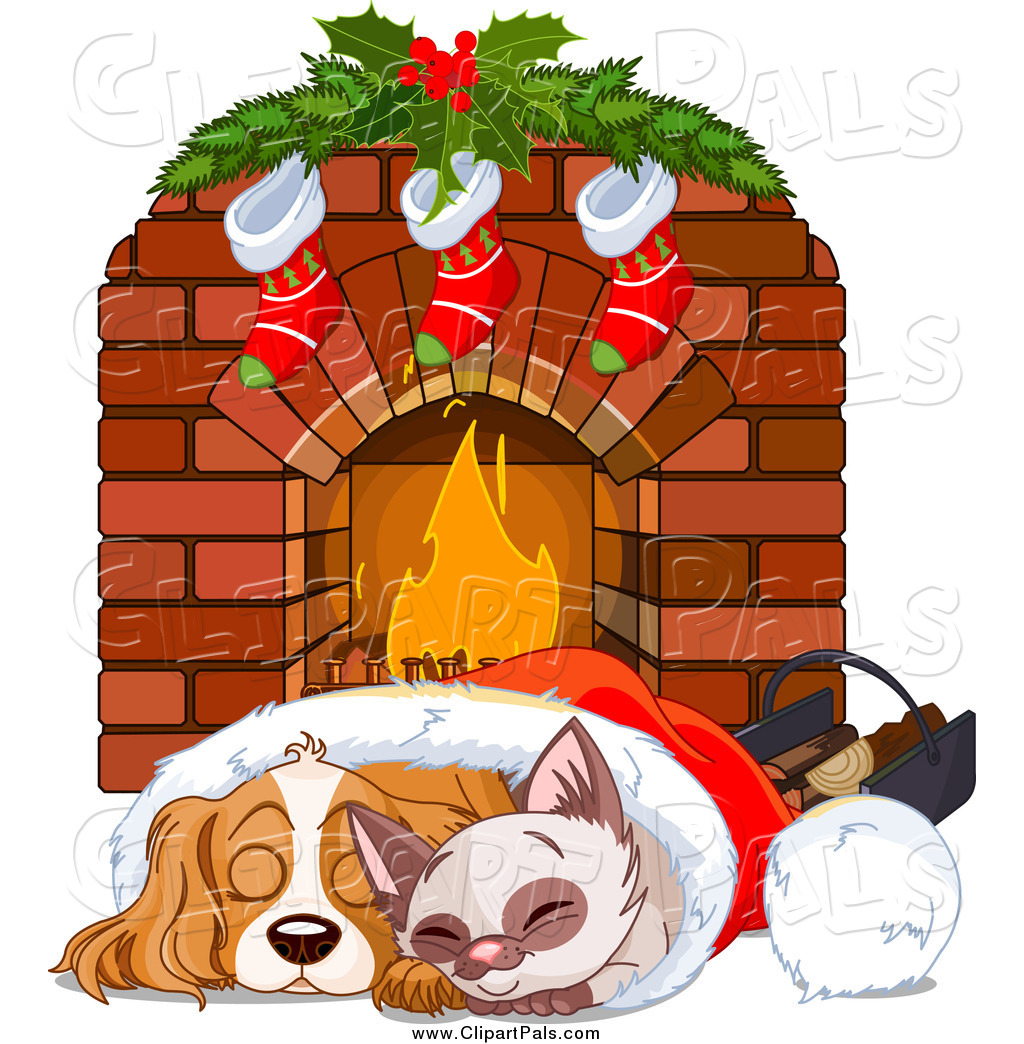 Free clipart christmas fireplaces.