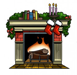 Fireplaces Clipart.