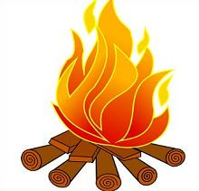 Free Camping Fires Clipart.