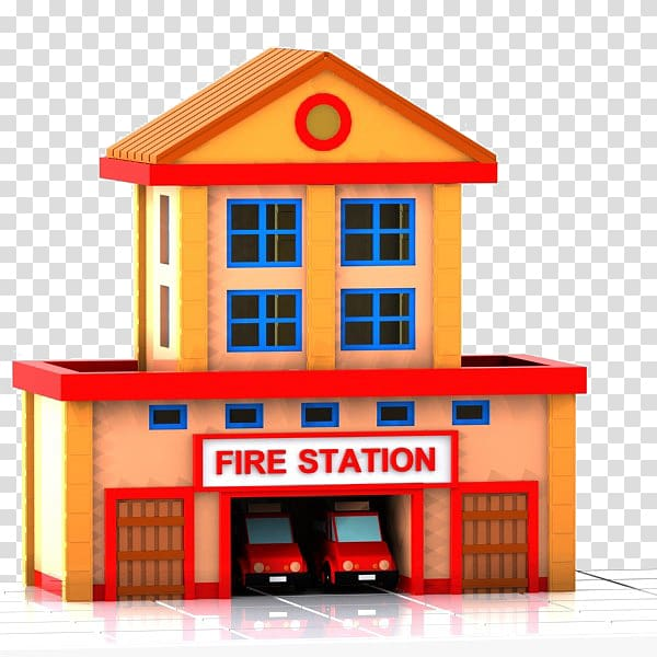 Fire Station illustration, Fire department Fire station.