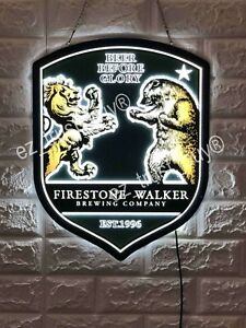 "Details about New Firestone Walker Brewing Beer Before Glory Logo 3D LED  Neon LIght Sign 17""."