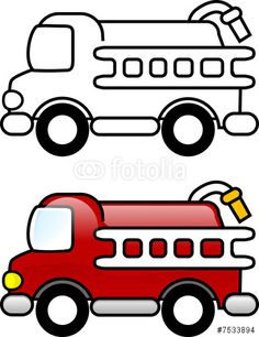 Red Fire Truck Hat 4 clip art.