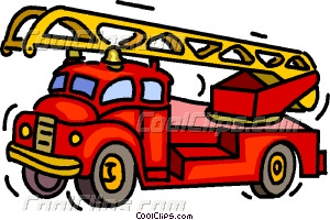 fire truck Vector Clip art.