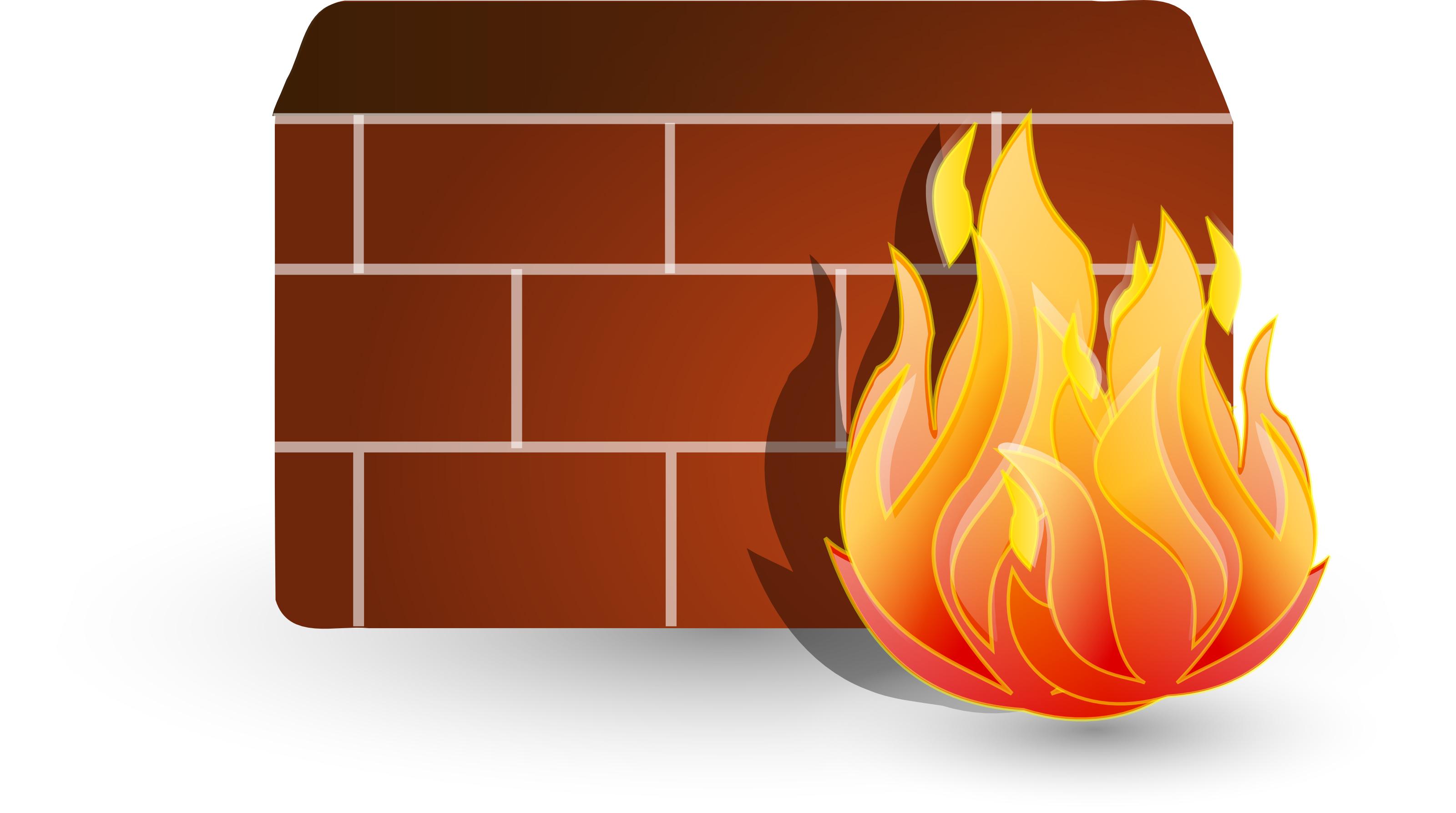 Firewall clip art.
