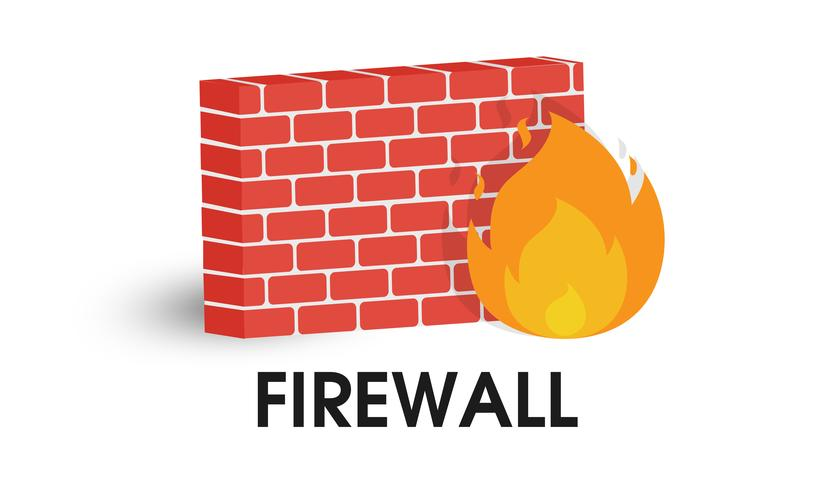 Network Firewall icon. Illustration Vector on white.