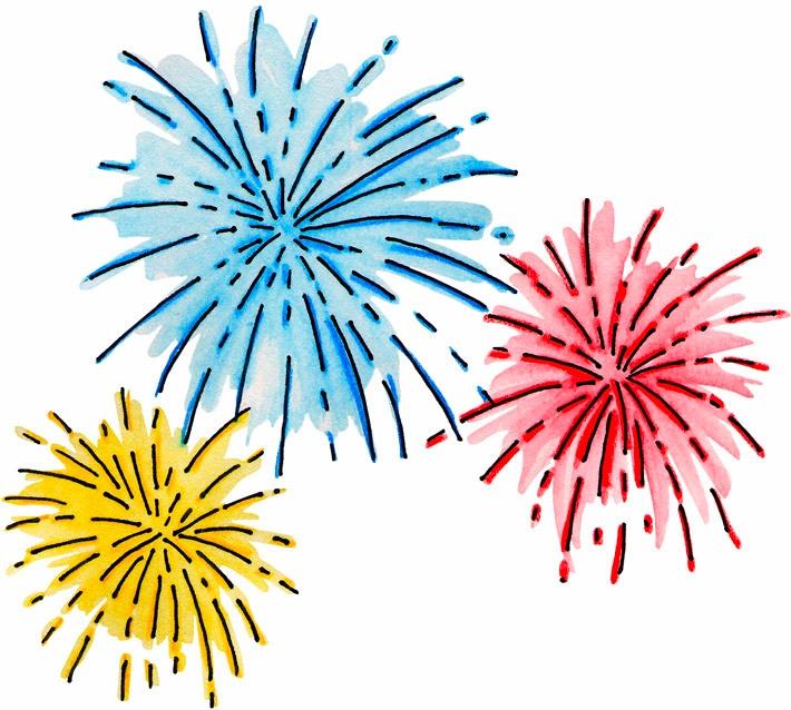 Kids fireworks clipart free.