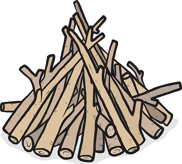 Best Firewood Pile Illustrations, Royalty.