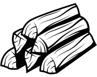 Firewood Black And White Transparent & PNG Clipart Free.