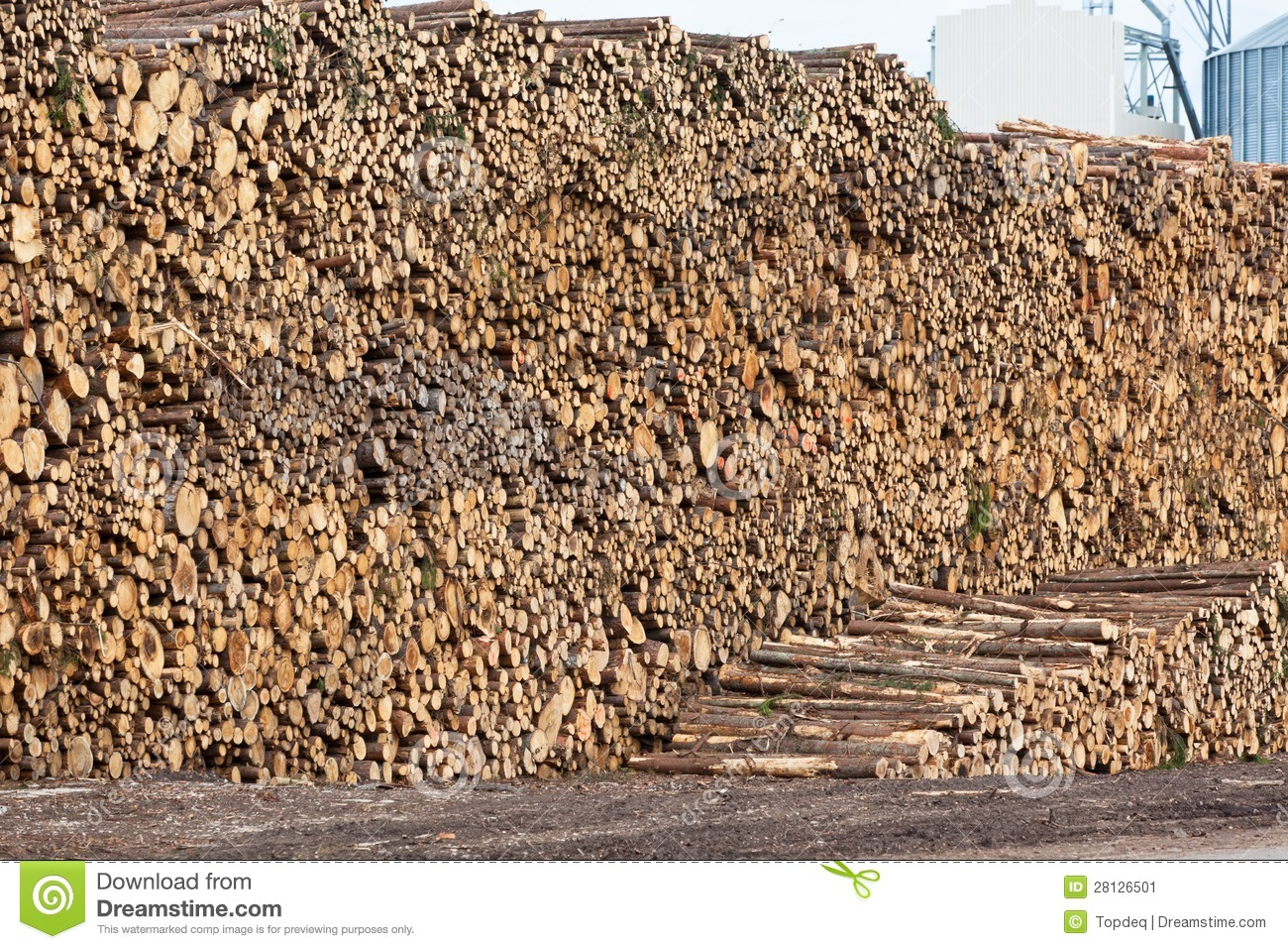 Wood Pile Clipart.