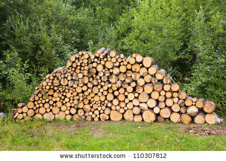 Wood Stack Stock Photos, Royalty.