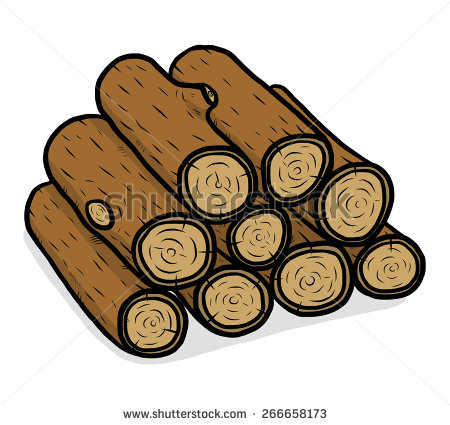 Wood logs clipart.