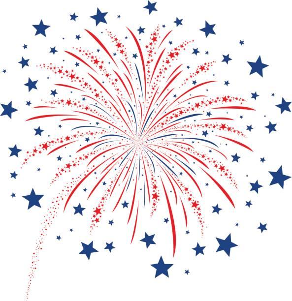 Best Fireworks Illustrations, Royalty.
