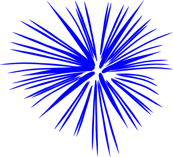 red white and blue firework clipart #12