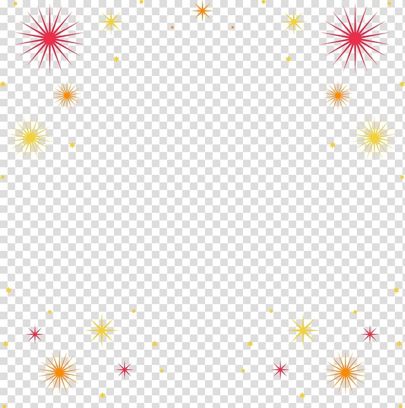 Frame Fireworks Molding, Fireworks Border transparent.