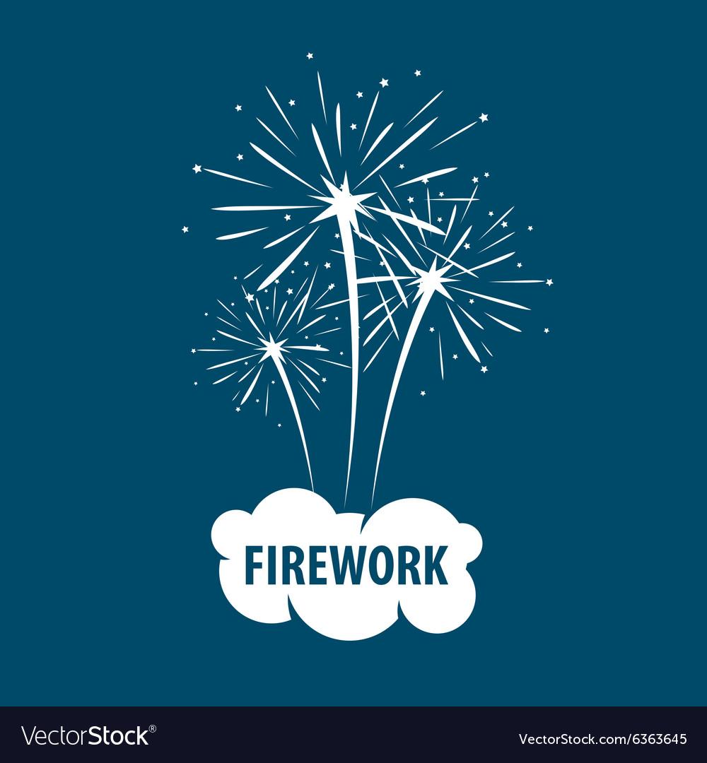 Logo white cloud and firework.