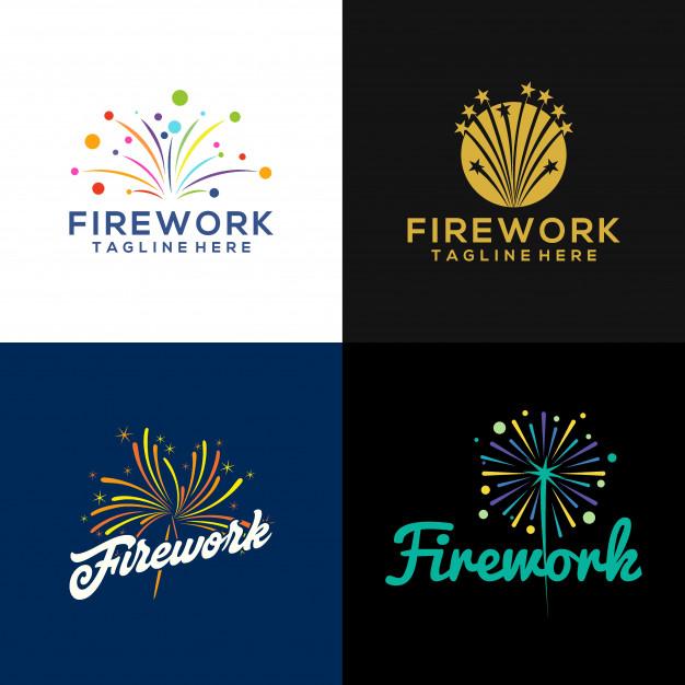 Firework logo Vector.
