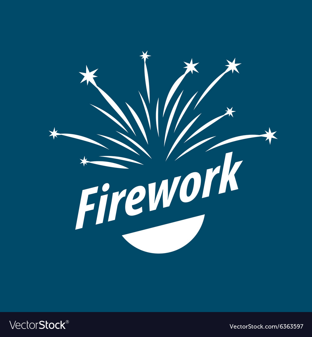 Logo abstract white fireworks.