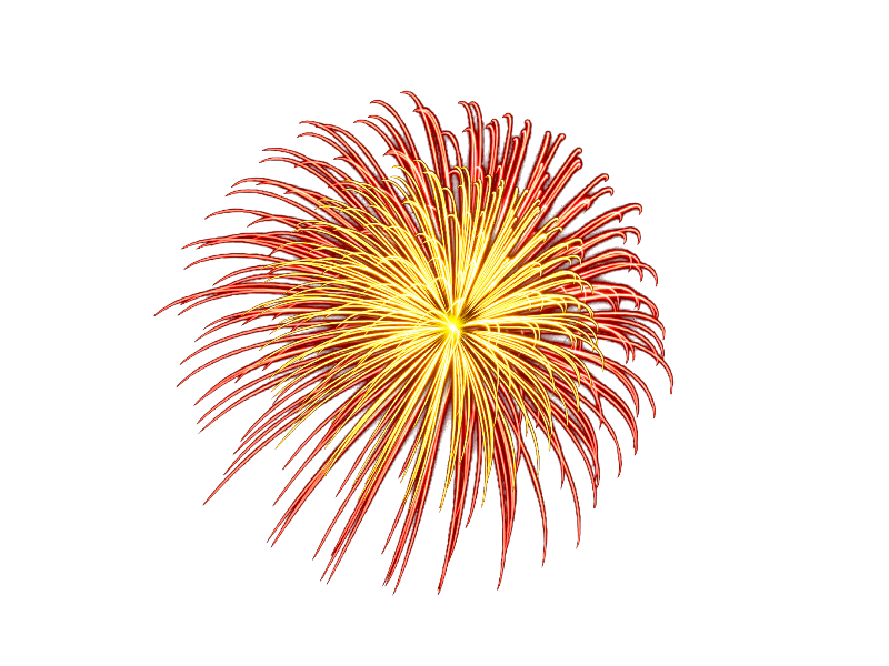 Fireworks PNG with Transparent Background (Isolated.