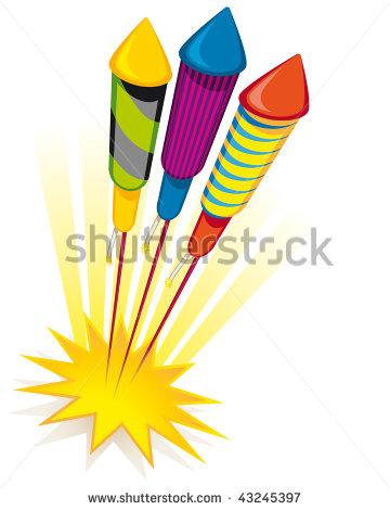 Firework Rocket Stock Images, Royalty.