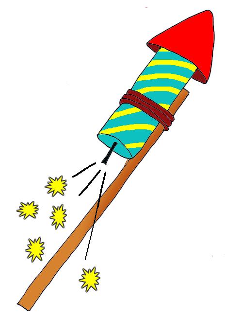 Rocket Firework Clipart.
