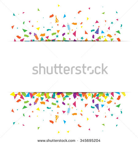 Confetti And Firework Background, Can Be Use For Celebration, New.