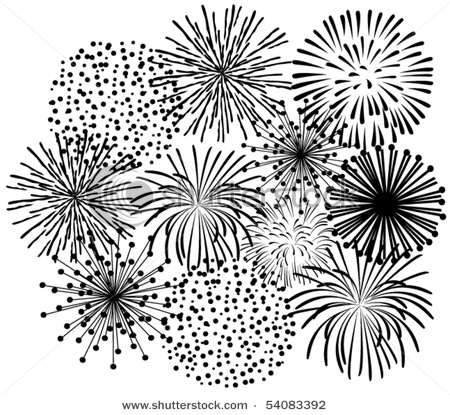Showing post & media for Cartoon fireworks black and white.