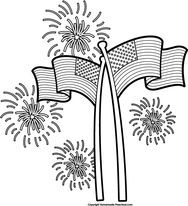 Similiar July 4th Fireworks Clip Art Black And White Keywords.
