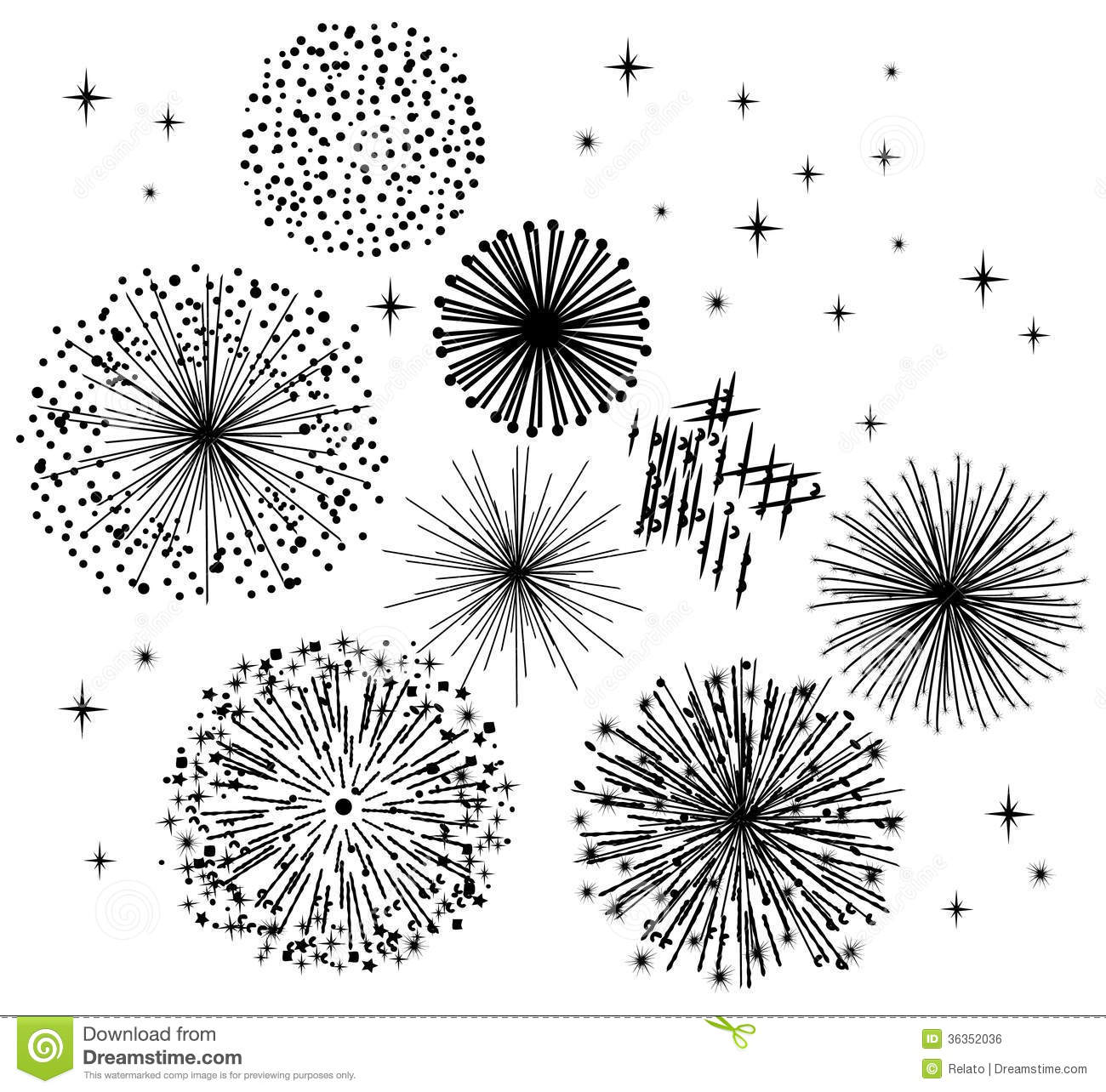Black Fireworks Royalty Free Stock Image.