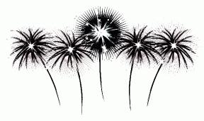 Fireworks Border Clipart.