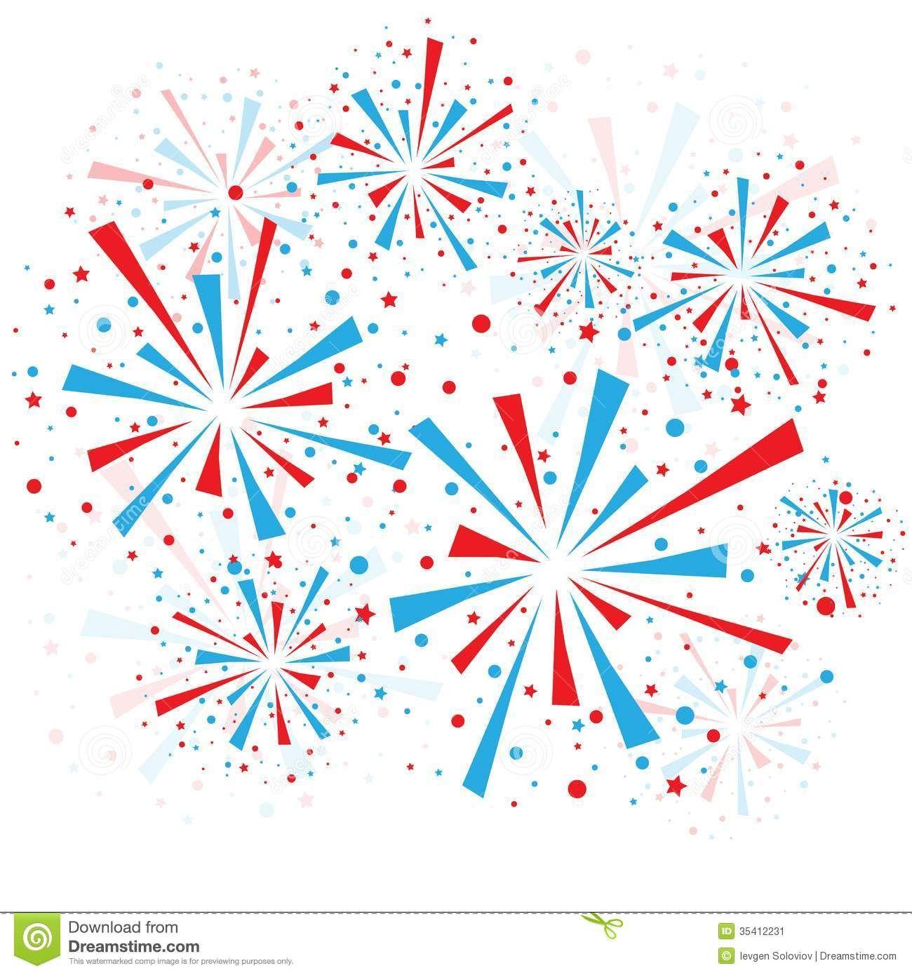 clip art fireworks border.