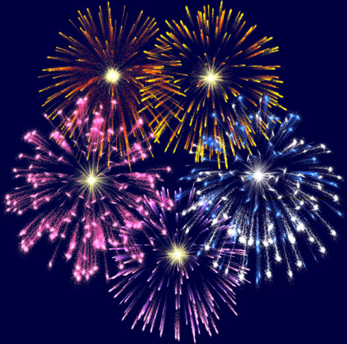 Fireworks Transparent Clipart.