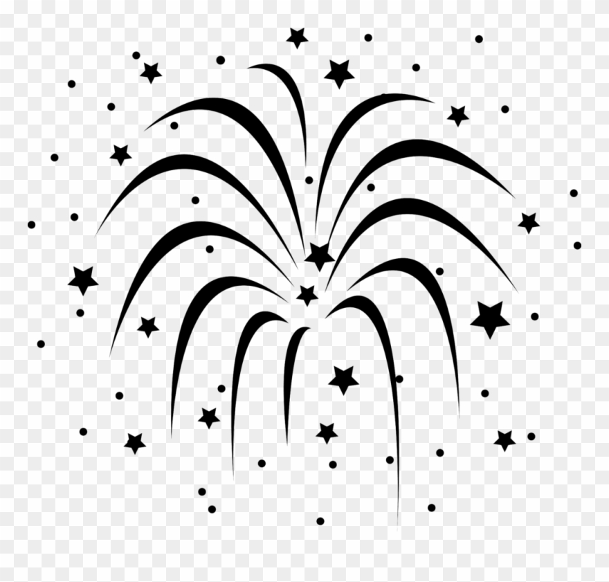 Firework Clipart Ycoggmdce Fireworks Black And White.