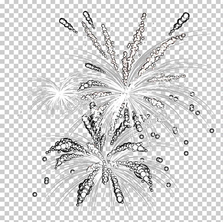 Fireworks Computer File PNG, Clipart, Black And White, Cool.