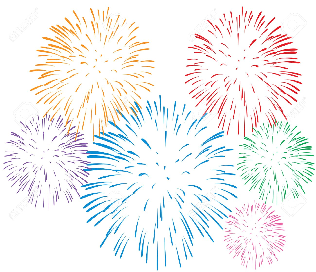 Fireworks clipart transparent background 1 » Clipart Station.