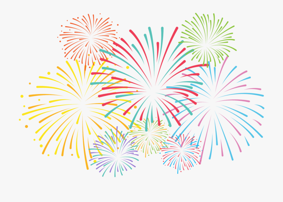 Hd Pin Fireworks Clipart Black And White Transpa Fire.