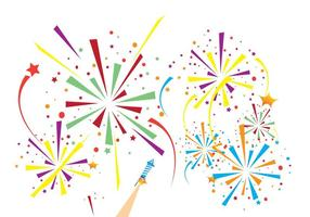 Fireworks Background Free Vector Art.