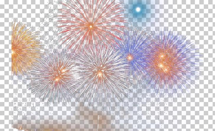 Purple Computer , Fireworks, fireworks display illustration.