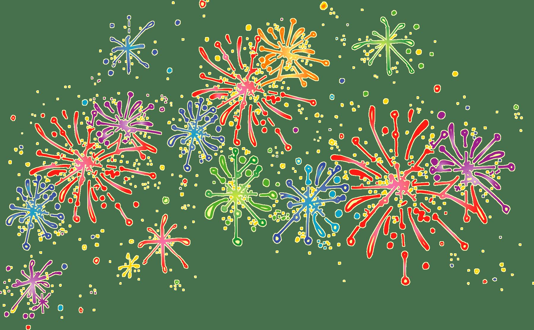 Cartoon Fireworks transparent PNG.