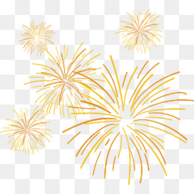 Download Free png Yellow Fireworks PNG Images.