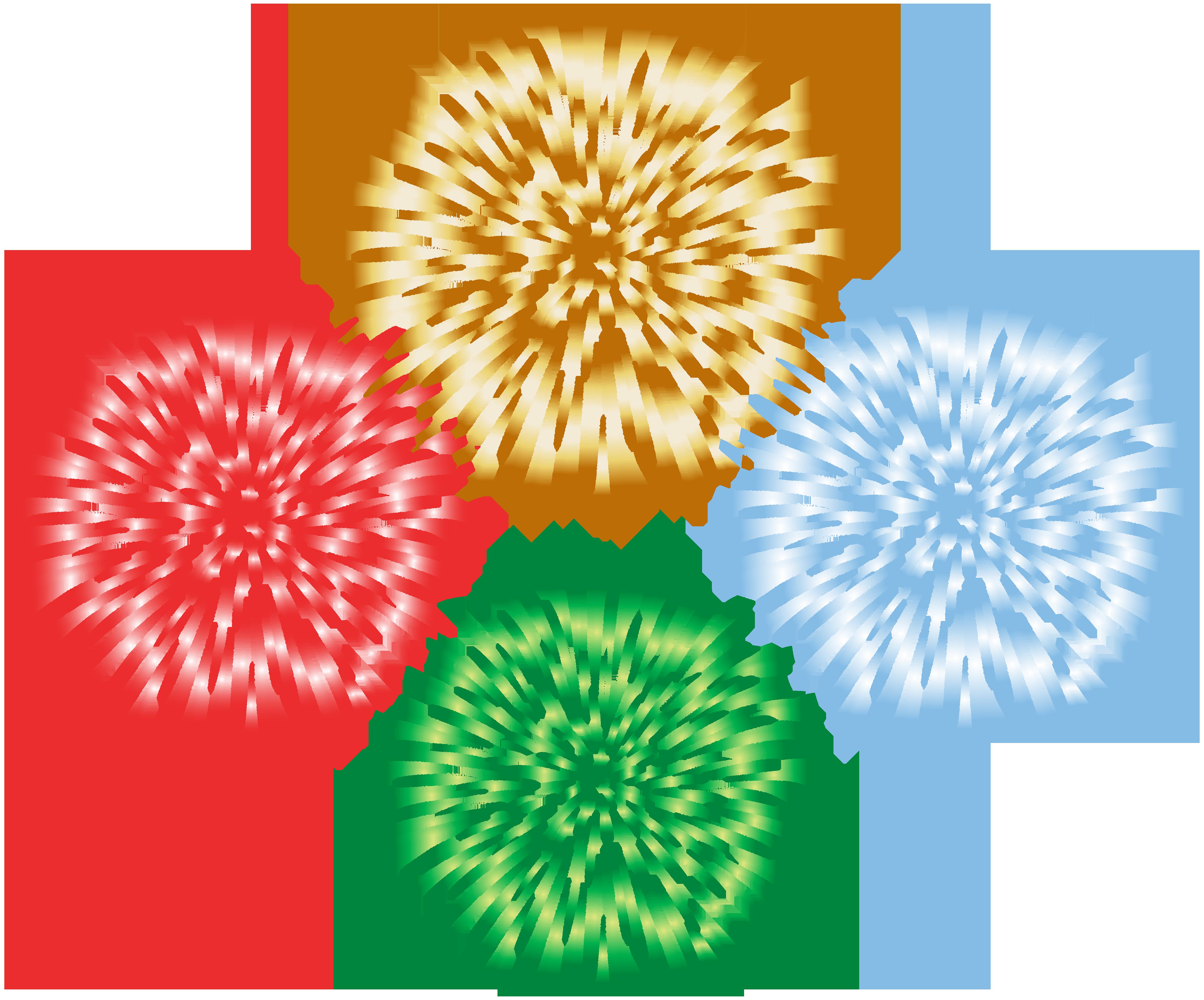 Fireworks Transparent Clip Art Image.