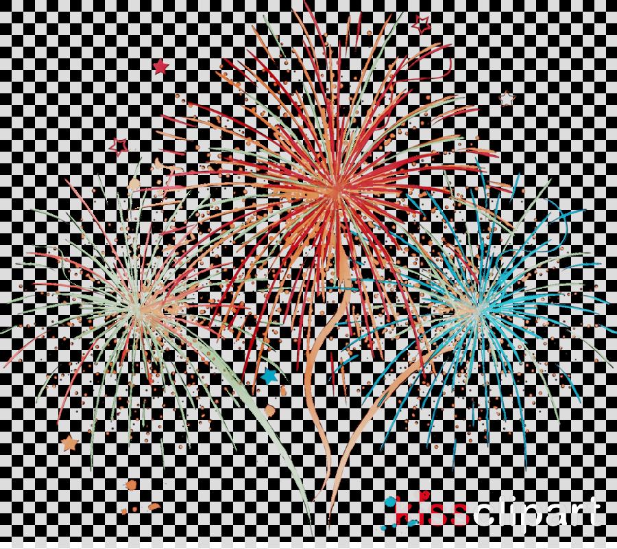 New Year Fireworks Cartoon clipart.
