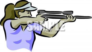 Firing gun clipart.