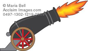 Cannon Firing Clipart.