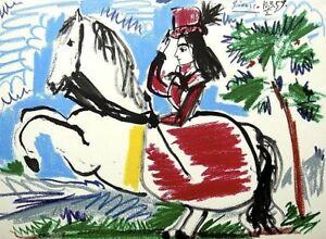 Pablo Picasso mano firmado firma * toros y toreros.