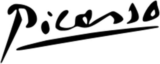 Firma de Picasso.