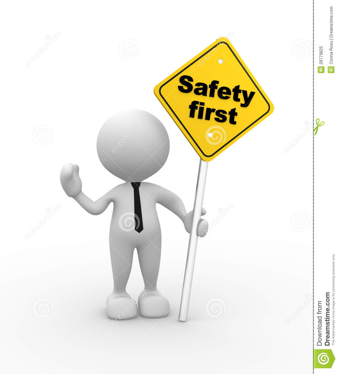 Safety First Clipart.